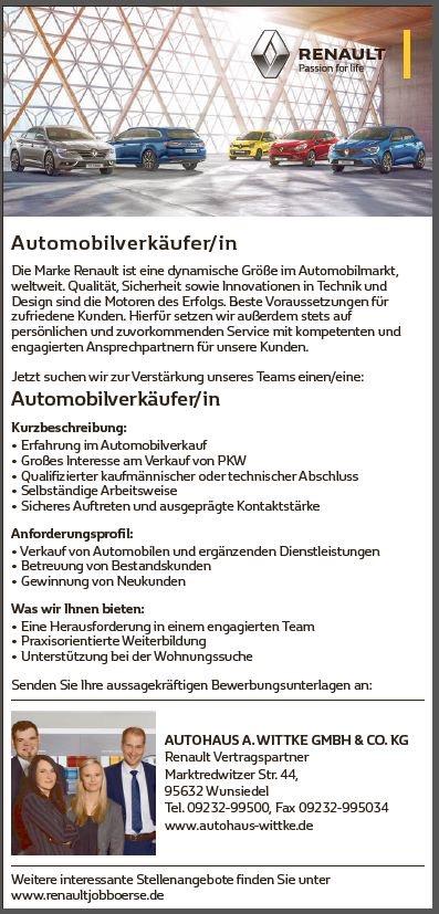 Automobilverkäufer_Autohaus_wittke_wunsiedel