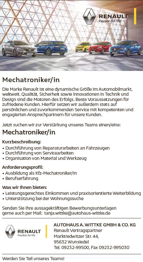 Mechatroniker_Autohaus_Witte_Wunsiedel